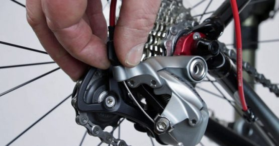Cycling French Alps, Adjusting rear Derailleur